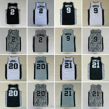 Wholesale San Antonio Kawhi Leonard Jersey Cheap Basketball Jerseys Tony Parker Tim Duncan Manu Ginobili Jersey Embroidery Logos(China (Mainland))