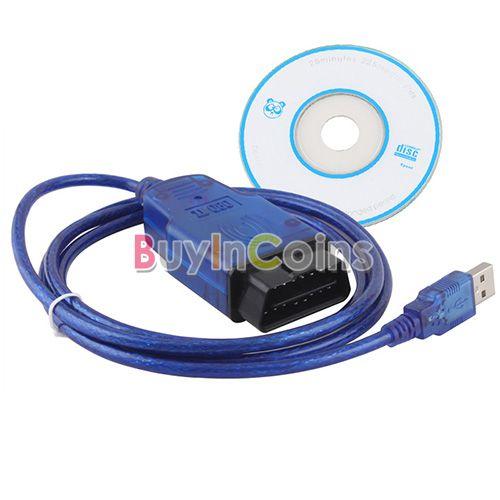 VAGCOM USB KKL 409.1 Cable For AUDI Volkswagen OBD2 OBDII Car Diagnostic Scanner Tool US AS #12441(China (Mainland))