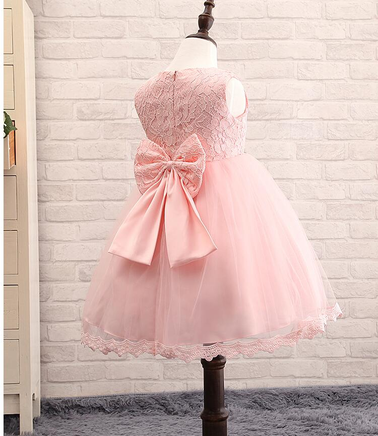 New Borns Infant Baby Girls Wedding Formal Lace Dresses 3M-8Years Little Toddler Girl Lace Flower Birthday Summer Princess Dress(China (Mainland))