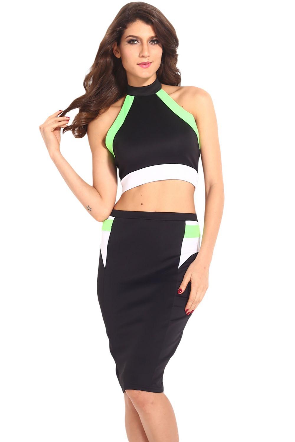 Sweet-Lover Zone new 2015 women Novelty Bandage Halter Top Knee Length Midi Dress Set club sexy gown long midi women dress(China (Mainland))