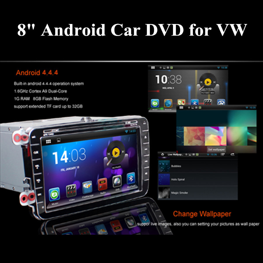 HOT Auto Car DVD for VW Golf Jetta Tiguan Passat Polo Seat Leon Superb GPS Android 4.2.2 A9 Dual Core 8 Inch 2 Din Free Shipping<br><br>Aliexpress