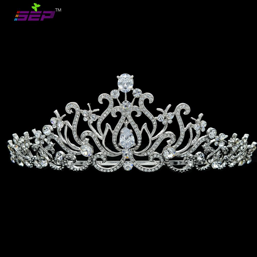 Hi-Q Fashion Flower Tiara Crown Headband Austrian Crystal Crown Birdal Wedding Jewelry JHA8321<br><br>Aliexpress
