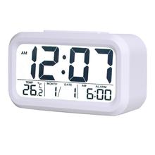 New Modern LCD Screen Display Desktop Alarm Clock Digital Backlight Clocks Thermometer Calendar Snooze Function AIA00419 -35(China (Mainland))