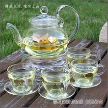 Heatresisting herbal tea set glass tea set pot teapot cup set glandes