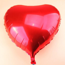 "Buy 5 Pcs 23"" 50 cm Aluminum Foil Balloon Metallic Heart Shape Air Balloons Wedding Birthday Party Decor Supply Helium Balloon for $4.03 in AliExpress store"