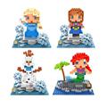 Elsa Anna Olaf Cinderella Assembly blocks ego legoe star wars duplo lepin toys stickers playmobil castle