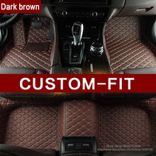 3D Custom fit car floor mats for Honda Accord Civic CRV City HRV Vezel Fit car-styling heavey duty carpet floor liner