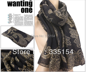2015 Autumn Winter Paisley Printed Scarf Women Floral Scarf Cotton Voile Scarf Shawls 6colors 10pcs/lot FREE SHIPPING