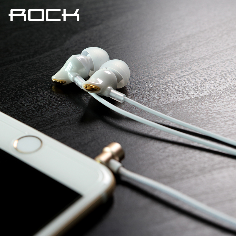 ROCK Original Luxury Zircon Stereo Headphone Headset 3 5mm In Ear earphone Earbuds For iPhone Samsung