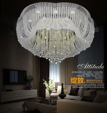 Free shipping modern large LED crystal chandelier kronleuchter lustres home decoration crystal lighting fixtures(China (Mainland))