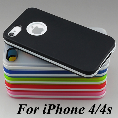 New Ultra-Thin Soft Translucent TPU Rubber Bumper Case For Apple iPhone 4 4s iPhone4 s Phone Cover Skin Capa funda Coque(China (Mainland))