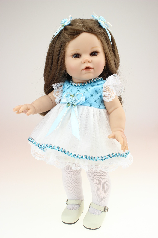 Vinyl lifelike pricess soft doll american girl dolls baby doll toys kid birthday christmas gift play house girl brinquedos<br>