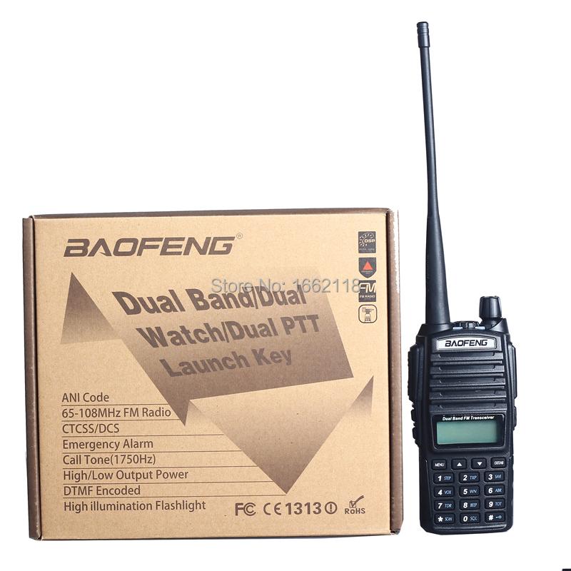 Portable Radio BaoFeng UV-82 5W 10KM Walkie Talkie amateur radio,Pofung handie talkie uv 82 ham radio free Double PTT headset(China (Mainland))