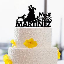 Жених И невеста Свадебный Торт Toppers Дизайн Торт Toppers С детьми и Животными, Свадебный Торт Топперы Пользовательские(China (Mainland))