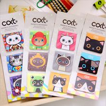3Pcs/Pack Cute Cartoon Cats Magnetic Bookmark Mini Paper Clip School Office Supply Escolar Papelaria Gift Stationery(China (Mainland))