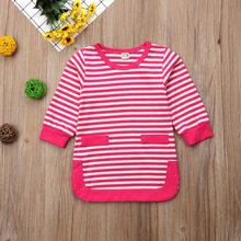 Pudcoco Baby Girl księżniczka sukienka z paskiem 0-5 T dla dzieci dla dzieci dziewczyny korowód sukienki z długim rękawem jesień wiosna ciepłe stroje 2019 najnowszy(China)