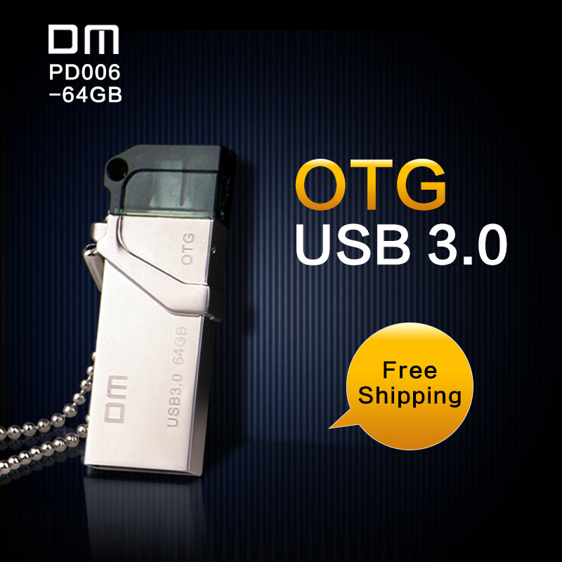 Гаджет  Free shipping DM OTG USB PD006 USB3.0 with double connector used for smart phone and computer 100% waterproof metal material None Компьютер & сеть
