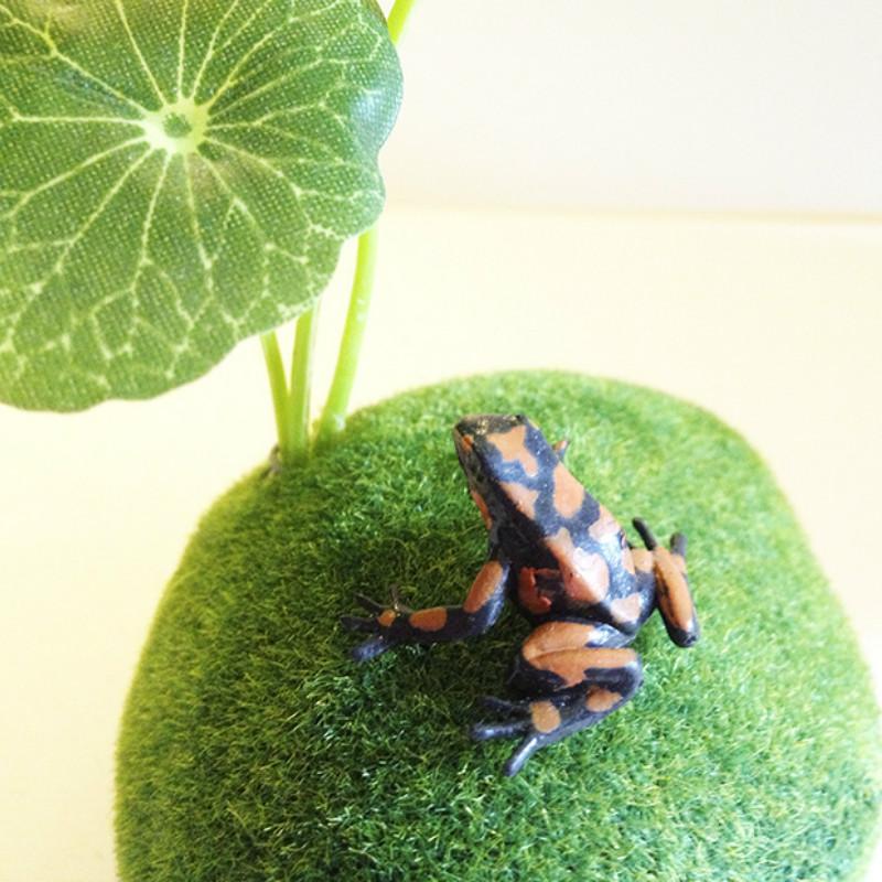 sale~1Pcs/brown frog/doll house//miniatures/lovely cute/fairy garden gnome/moss terrarium decor/crafts/bonsai/ DIY/s022(China (Mainland))