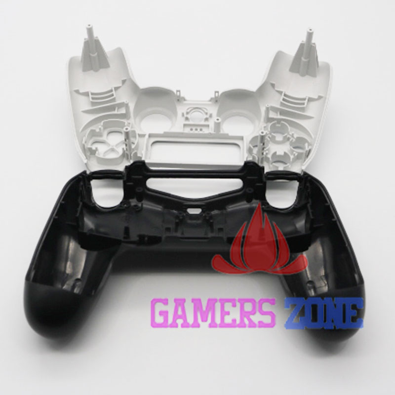 White Black Matte Housing Shell for Sony PS4 Playstation 4 Wireless Controller Replacement
