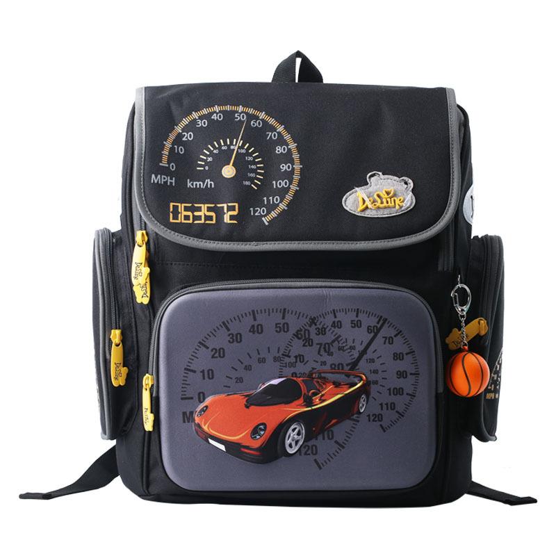 Delnue Brand Cars School Bags Boys Orthopedic Backpack Mochila Infantil Kids Satchel Waterproof Portfolio