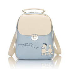 hot sale famous design preppy style women backpack high quality genuine pu leather shoulder bag fashion lady school bag 618(China (Mainland))