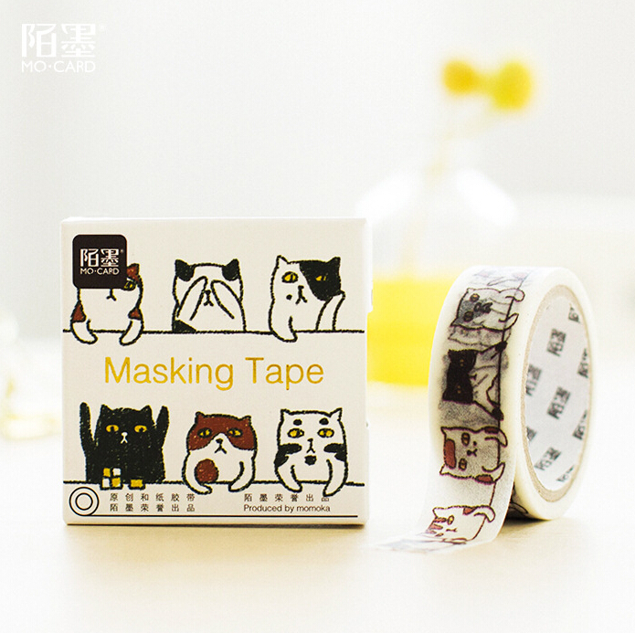 JB117 1.5cm Wide Cute Spotted Cats Decorative Washi Tape DIY Scrapbooking Masking Tape School Office Supply Escolar Papelaria(China (Mainland))