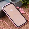 top quality Candy Color ultra flexible Black Clear Bumper Frame Silicone Case Cover for iPhone6 6plus