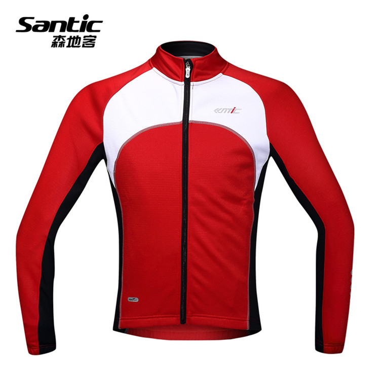 SANTIC Mens Cycling Fleece Thermal Wind Long Jacket/Winter Energy Protection Bike/Bicycle MTB Cycling Clothing/Sleeves Sports<br><br>Aliexpress