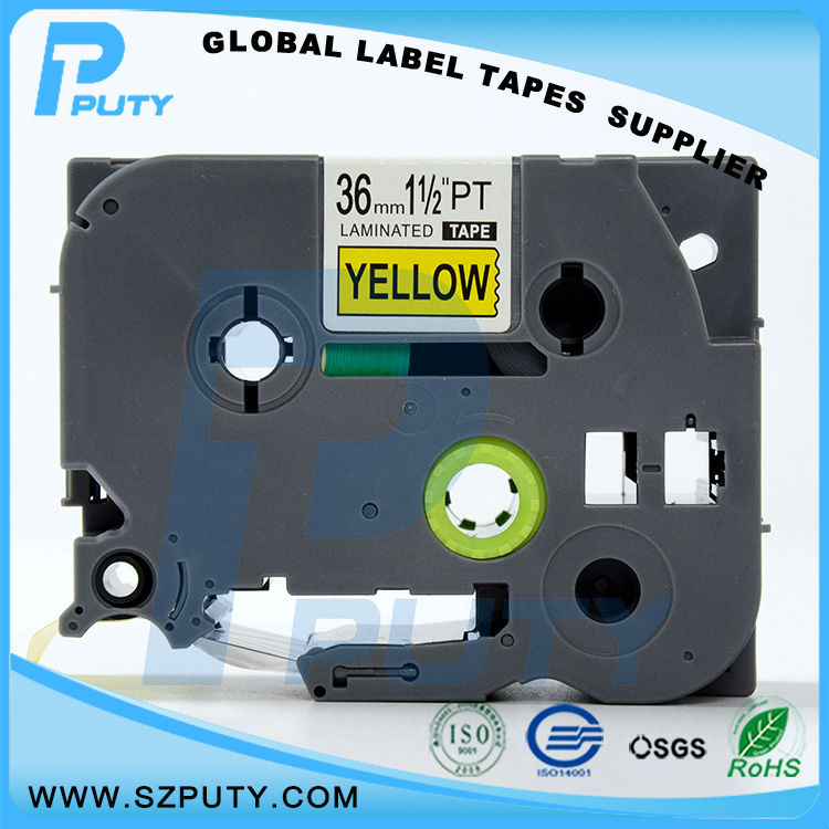 10 packs TZe-S661 36mm Black on Yellow TZ-S661 compatible label tapes for ptouch label printers<br><br>Aliexpress