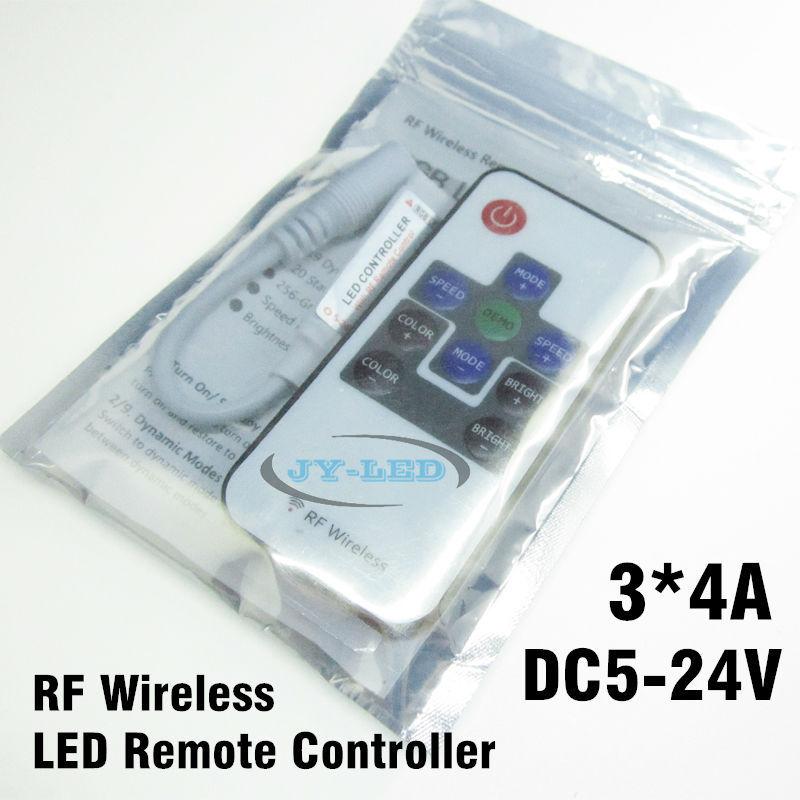 2 Set 10 Key RF RGB Controller Mini RF Wireless LED Remote Controller for RGB 5050/3528 LED Lights Strips(China (Mainland))