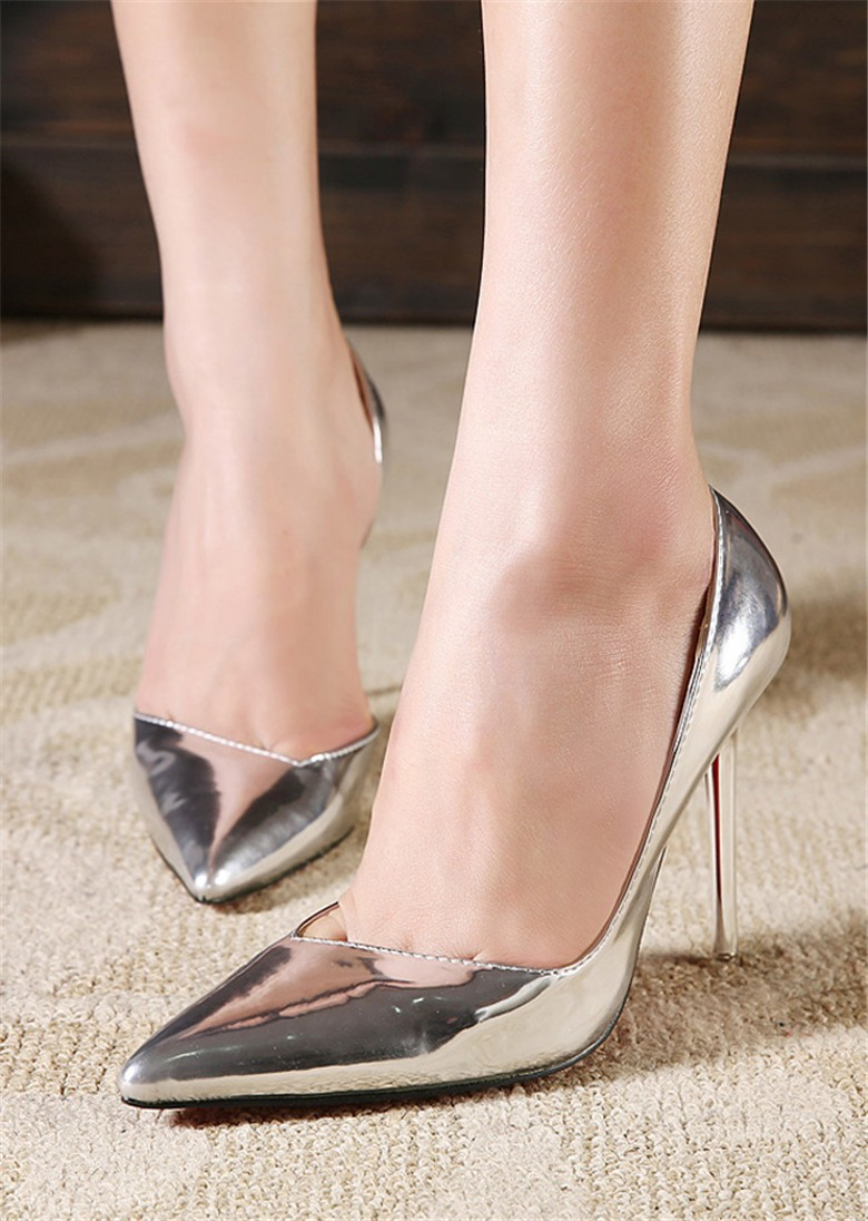 Popular Silver Pumps Heels-Buy Cheap Silver Pumps Heels lots from ...