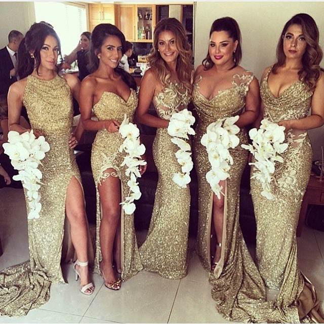 Bridesmaid Dresses With Glitter