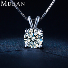 MDEAN Vintage wedding chain white gold plated CZ diamond AAA jewelry for   women necklace Pendant New Arrived necklace MSN002