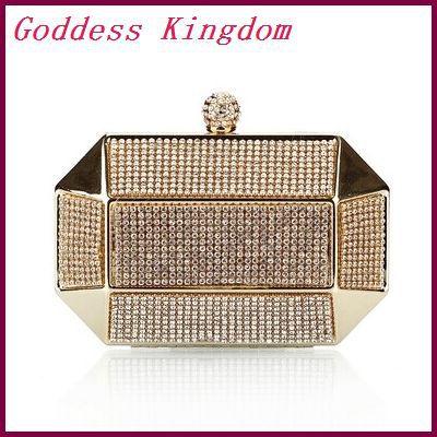 Luxury Party Clutch Bags Full Diamond Evening Bags Solid Clutch Purses Rhinestone Wedding Handbag A7090<br><br>Aliexpress
