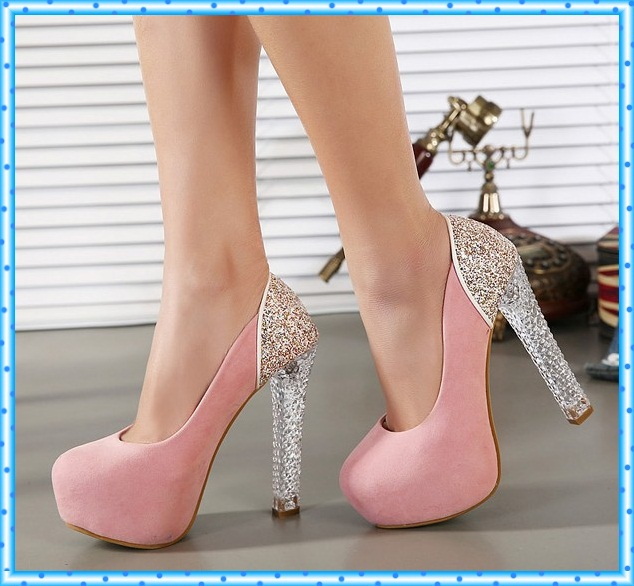 girls dress pumps pink shoes sexy high heels shoes crystal shoes pumps women heels female party