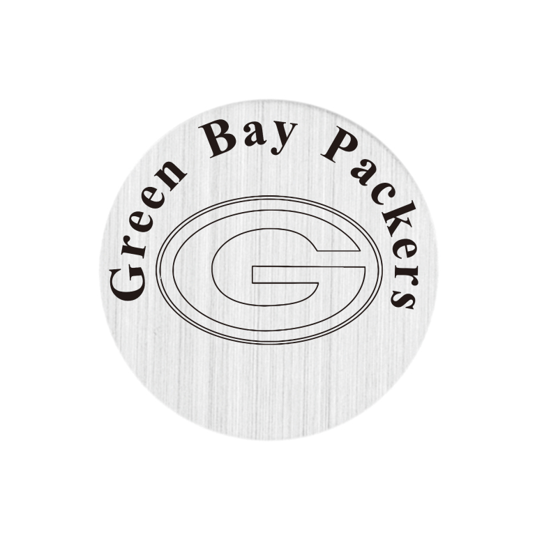 22mm stainless steel american football floating locket charm plate green bay packers backplate(China (Mainland))