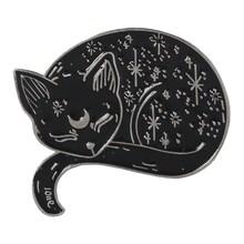Meow Gatto Scuola Materna Dello Smalto Spilli Scatola Gattino Che Abbraccia Gatti Distintivo Spilla Personalizzata Sacchetto di Vestiti del Risvolto Spille Animale Del Fumetto del Regalo Dei Monili(China)