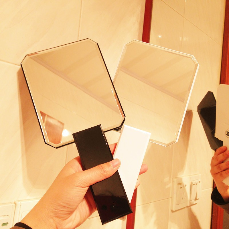 New Brand Hand Mirror Makeup Cosmetic Bag Girl Fashion Pocket Portable Mirror For Women Decoration Mirror With Original box(China (Mainland))