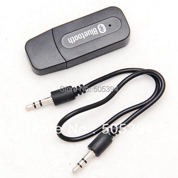 USB Bluetooth Music Receiver Adapter 3.5mm Stereo Audio for iPhone4 4S 5 Mp3 free shipping(China (Mainland))