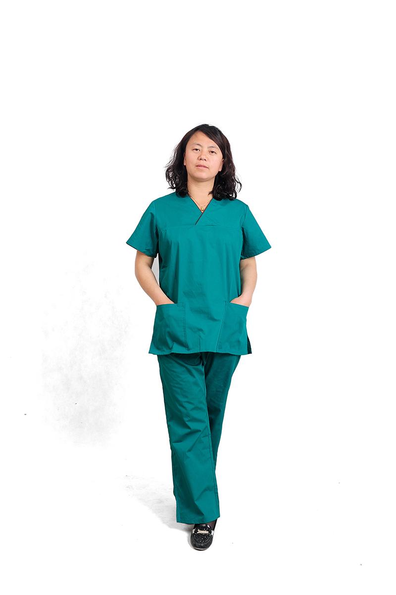 Nurse Uniform Hospital Lab Coat doctor 's surgical clothing Hospital Medical Scrub Sets Uniform Fashion Design Breathable(China (Mainland))