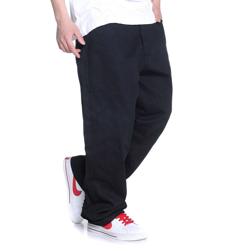 Mens Denim Jeans Fashion Hip Hop Classical Black Baggy Plus size 42 44 46 Skateboard Pants For Man HipHop Hip-HopОдежда и ак�е��уары<br><br><br>Aliexpress