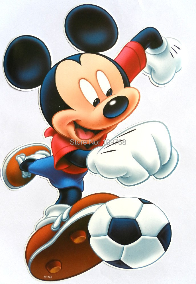 free shipping mickey football wall sticker