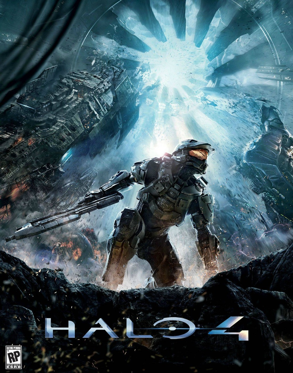 OEM video games halo 4 master chief warriors wallpaper stickers Mural Art Home print customized cute retro poster decor gifts(China (Mainland))