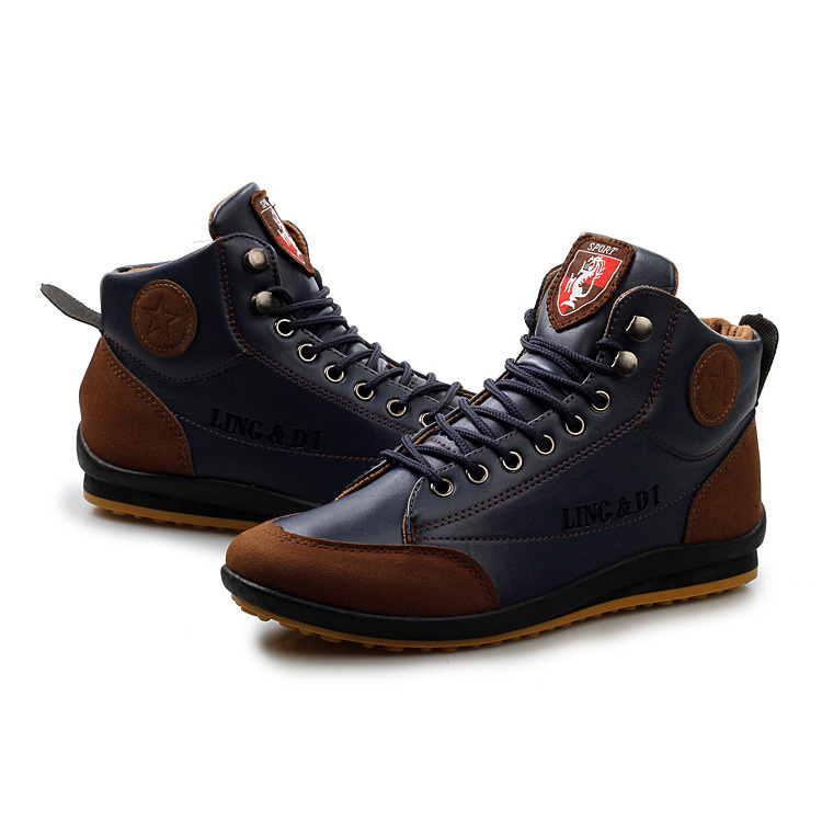 ea93aae9f3a3 High Top Men Shoes New 2015 Designer Autumn Winter Men s Fashion Sneakers  Outdoor Male Casual Footwear For Men Sneakers RMC-048