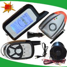 NEW DIY Two way car alarm door open alarm,shock sensor alarm,wireless learning alarm siren,no cutting wire,remote distance 1000m(China (Mainland))