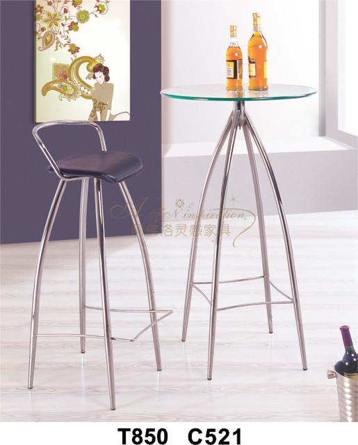Modern metal Bar chair set  leisur Bar furniture  set chrome plated AFN-521