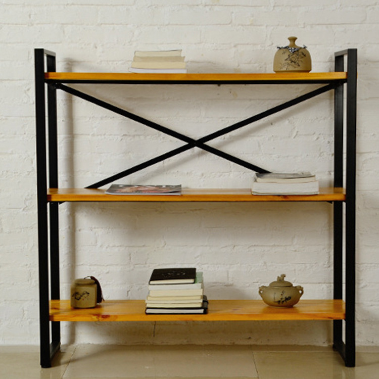 Wood shelving Goode American retro to do the old wrought iron wood clapboard living room floor storage rack shelf<br><br>Aliexpress