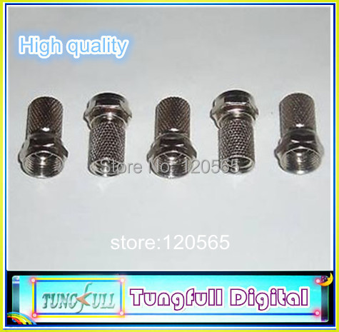 Brass materials 20pcs Twist on RG6 F Type Coaxial Cable Connector Plugs(China (Mainland))