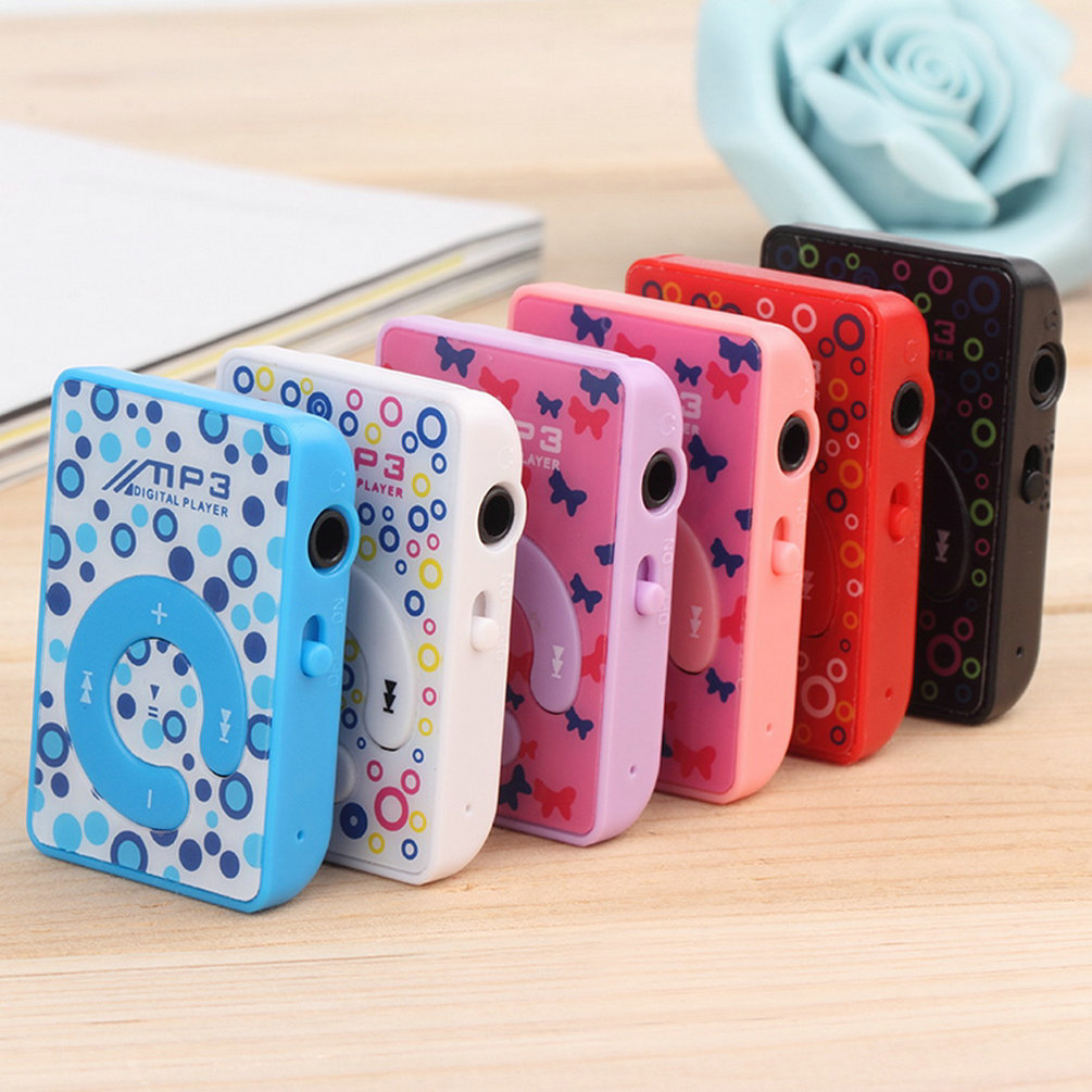 High Quality Print Mini Clip MP3 Music Player with for Micro TF/SD card Slot, 5 Colors (ONLY MP3 Player, NO USB, NO headphone)(China (Mainland))