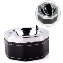 New Hexagon Cigarette Ash Ashtray Smokeless Holder With Lid Portable Professional #61428 (China (Mainland))